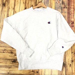 Champion reverse weave small gray sweatshirt